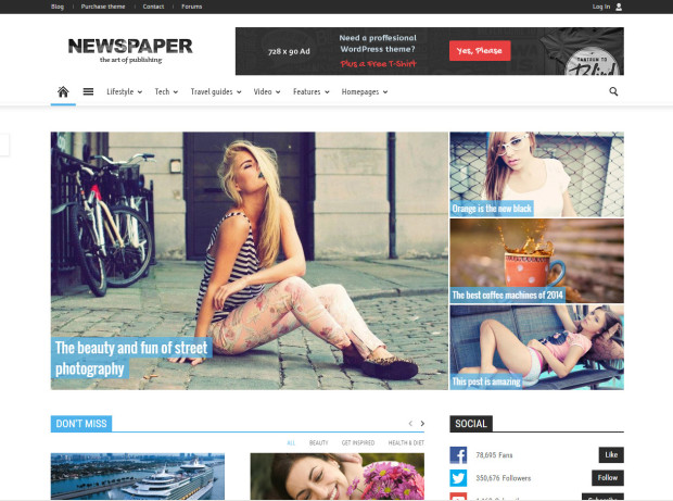 tema wp a pagamento - newspaper