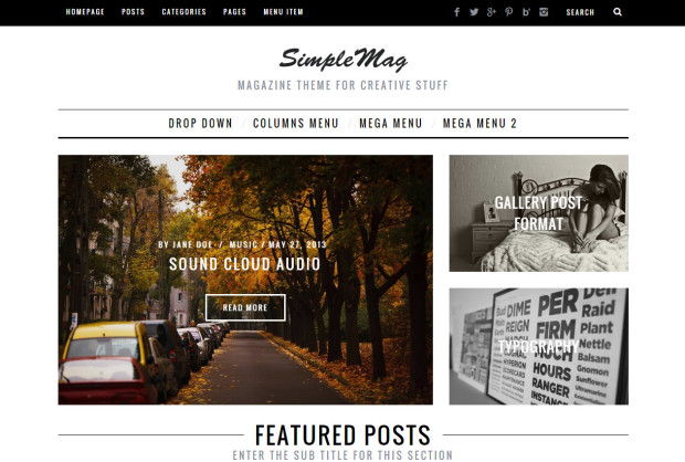 tema wp per news e blog a pagamento - simple mag